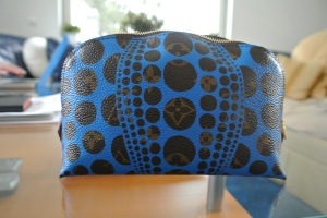 Louis Vuitton x Yayoi Kusama Blue Cosmetic Bag